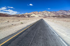 Artists drive road in Death Valley Royalty Free Stock Image