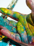 Artists hand Stock Photography