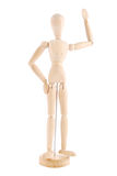Artists mannequin waving. On white background royalty free stock photos