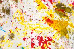 Artists multicolored ink. Close up abstract background Royalty Free Stock Image