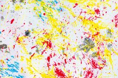 Artists multicolored ink. Close up abstract background Royalty Free Stock Photos