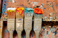 Artists oil painting palette Royalty Free Stock Image