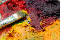 Artists oil painting palette Stock Images