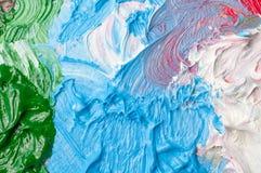 Artists oil paints color background Stock Images