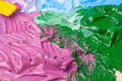 Artists oil paints color background Stock Image