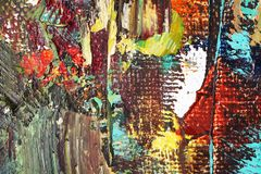 Artists oil paints multicolored closeup abstract background stock illustration