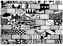 The artists own brick wall of patterns stock illustration