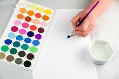 Artists paint box Stock Photography