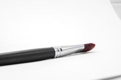 Artists paint brush lying Stock Photography