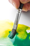 Artists paint brush and paint stock images