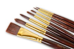 Artists Paint Brushes. Isolated on white with clipping path Royalty Free Stock Photography