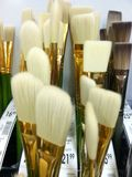 Artists paint brushes white 4 Stock Photos