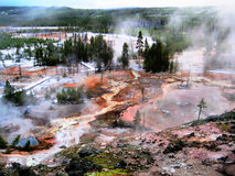 Artists' Paintpots in Yellowstone. This picture corresponds to The Artist Paint Pots, which you can find in Yellowstone. The Artist Paint Pots is an small Stock Photography