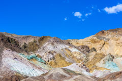 Artists palette at artists drive in Death valley Royalty Free Stock Photos