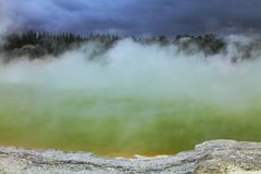Artists Palette. Beautiful volcanic hot spring in Rotorua, New Zealand Royalty Free Stock Photo