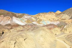 Artists Palette, the colorful rock formation in Artist loop drive, Death Valley National Park, USA stock photos