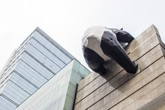 Artists Panda Installation on Building. royalty free stock photo