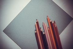 Artists` pencils Stock Photography