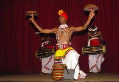 Plate-spinning artist, Kandy, Sri Lanka. royalty free stock photos