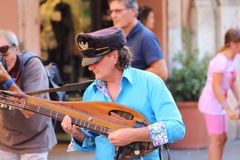 Artists perform in the street Stock Image