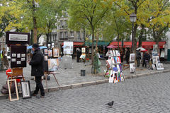Artists on Place du Tertre Stock Photo