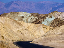 Artists Point Along Artists Drive, Death Valley National Park Stock Image