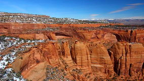 Artists Point Colorado National Monument. Rock formations of Artists Point tower over the valley at Colorado National Monument stock video