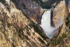 Artists point waterfall - Yellowstone National Park Stock Photography