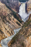 Artists point waterfall - Yellowstone National Park Stock Images