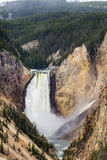 Artists point waterfall - Yellowstone National Park Stock Photos
