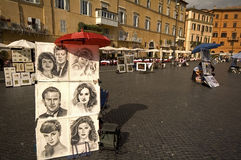 Artists in Rome Stock Images