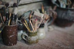 Artists's Brushes Royalty Free Stock Photography
