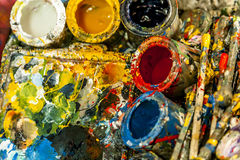 Artists Tools and Paints Stock Images