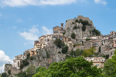 Artists village of Cervara, Rome. Characteristic village on mountain in Italy, place of many famous artists Royalty Free Stock Photo