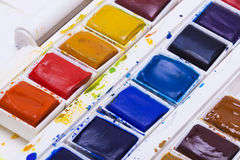 Artists watercolour paints Royalty Free Stock Photos