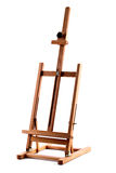 Artists wooden easel isolated on white Royalty Free Stock Images