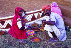 Artists Working in Rajasthan India Royalty Free Stock Photo