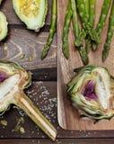 Artochoke et aspargus Photographie stock