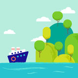 Artoon θαλάσσιο τοπίο Ð ¡ Απεικόνιση αποθεμάτων