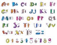 Сartoon alphabet Stock Image