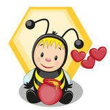 Сartoon bee Royalty Free Stock Photos