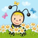 Сartoon bee Royalty Free Stock Photo