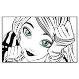 Сartoon girl Stock Photography
