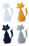 ?artoon Katze, Set Stockbild