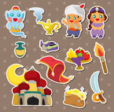 Artoon Lamp of Aladdin stickers Royalty Free Stock Image