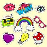 Сartoon patch badges Royalty Free Stock Images