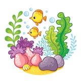 Artoon underwater life. Stock Photography