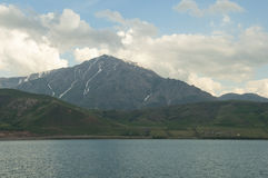 Artos Mountain. View of the mountain Artos from Lake Van Stock Photos