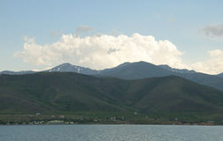 Artos Mountain. View of the mountain Artos from Lake Van Stock Photo