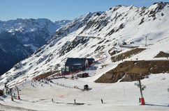 Artouste滑雪胜地 免版税库存图片
